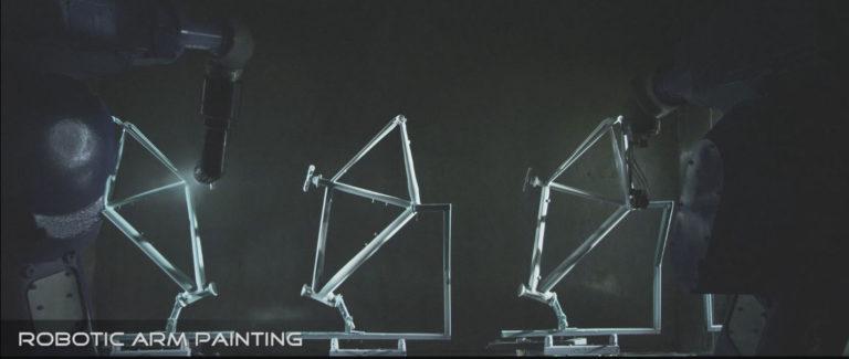 FJ bike manufacturing, frame painting automation